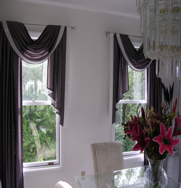 Swags and jabots window treatments car interior design